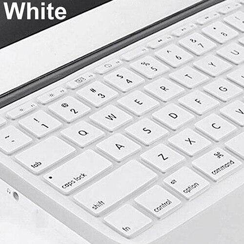 1pc Silicone Keyboard Skin Protector Film Case Cover for MacBook Pro 13//15//17 inch Laptop Keyboard Cover-White