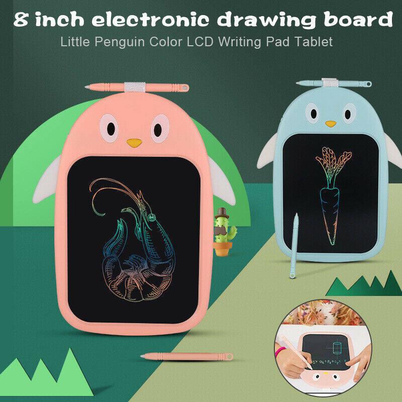 【Lzdam】 8 Inch Màn Hình LCD Điện Tử Kỹ Thuật Số Tấm Kẹp Giấy Viết Máy Tính Bảng Để Vẽ Card Đồ Họa Cho Mới Cho Trẻ Em