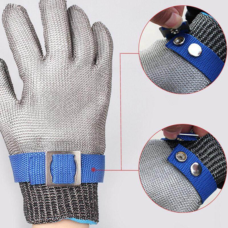 Blowing Safety Cut Proof Stab Resistant Stainless Steel Gloves Metal Mesh Butcher L