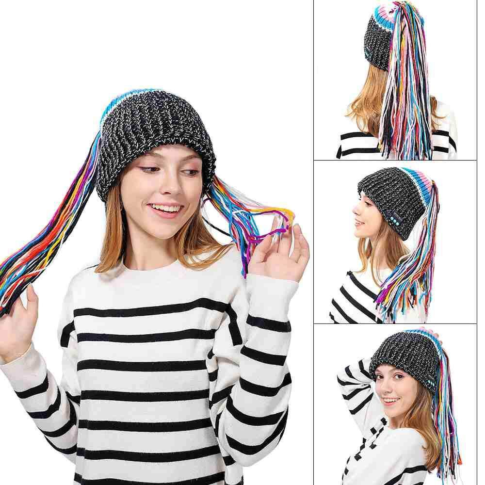 4e07f217b84 Jayoyi 1 pcs Winter Warm Knitted Comfortable Bluetooth Hat Wireless Soft  Coldproof Music Cap Headset Speaker
