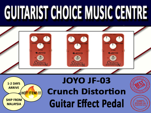JOYO JF-03 Crunch Distortion Guitar Effect Pedal for beginners intermediate advance learning kids adult performance amplifier portable Malaysia