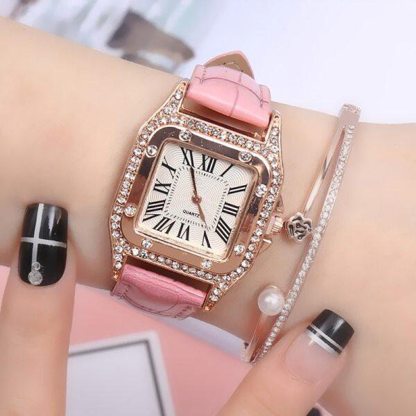 Women Watch Simple Delicate Square Watch Luxury Fashion Wild Ladies Watches Diamond Roman Numerals Dial Watch Malaysia