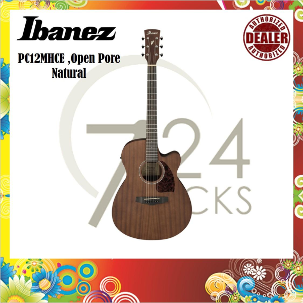 Ibanez PC12MHCE PF-Series Acoustic Guitar ,Open Pore Natural Malaysia