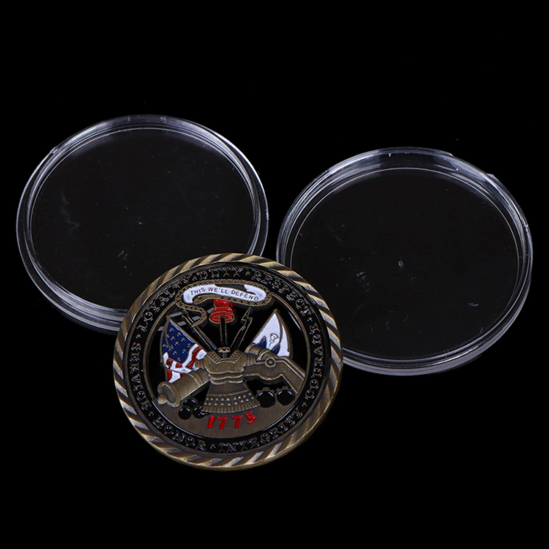 US Army Core Values Gold Plated Commemorative Challenge Art Gift Coin Collection