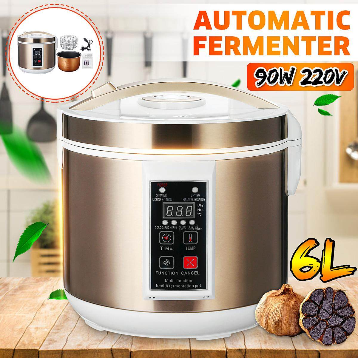6l 90w Automatic Black Garlic Fermenter Ferment Garlic Yogurt Natto Wine Maker By Audew.