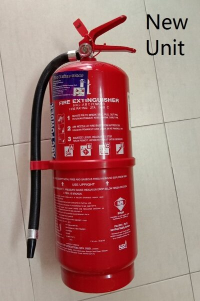 [PENANG FOC DELIVERY] 9KG ABC Powder Fire Extinguisher New unit SIRIM and ISO approved unit(Register Commercial address with Bomba certification)