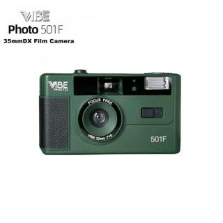 Vibe 501F Photo Máy ảnh phim 35mm Hướng dẫn sử dụng Retro Máy ảnh tái sử dụng phim 135 - Tặng kèm túi đựng thumbnail