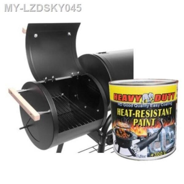 (300°C) BBQ grill paint flat BLACK  PAINT HEAVY DUTY BRAND PROTECTIVE COATING 1L (Heat Resistant FLAT BLACK )