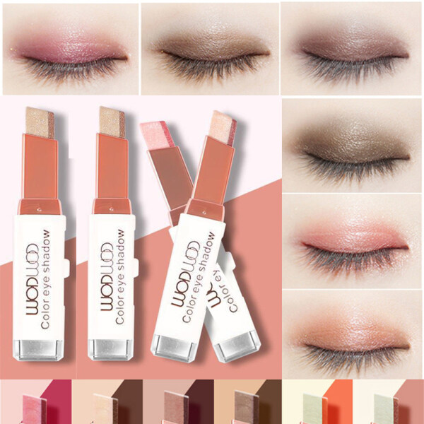 Chuyên Nghiệp Stereo Gradient Nằm Silkworm Không Thấm Nước Gradient Velvet Eye Trang Điểm Pearlescent Eyeshadow Bút Shimmer Bút Đôi Màu Eyeshadow Stick giá rẻ