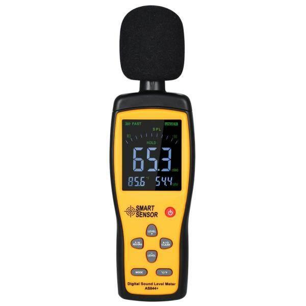 SMART SENSOR AS844+ Digital Sound Level Meter Noisemeter LCD Sound Level Meter 30-130dB Noise Volume Measuring Instrument Decibel Monitoring Tester Data Record&USB