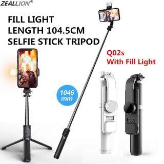 Zeallion Gậy Selfie Bluetooth Chân Máy Mini Ba Chân Có Thể Gập Lại Chân Máy Đơn Có Thể Kéo Dài Với Màn Trập Từ Xa Và Đèn Chiếu Sáng Phụ Chụp Ảnh Tự Sướng Bằng Điện Thoại Di Động Tạo Tác Phổ Biến Cho IOS Android thumbnail