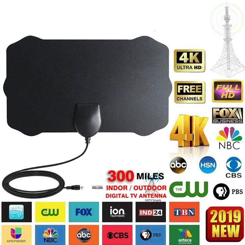 350 Mile Range Antenna TV Digital HD Skywire 4K Antena HDTV 1080P Amplifier Fox