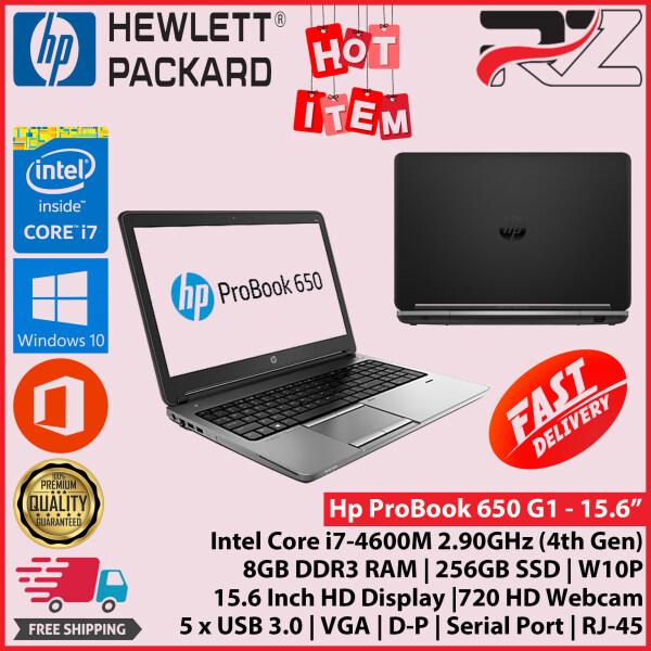 HP ProBook 650 / Core i7-4600M (4th Gen) 15.6  / 8GB RAM / 256GB SSD / W10P Malaysia
