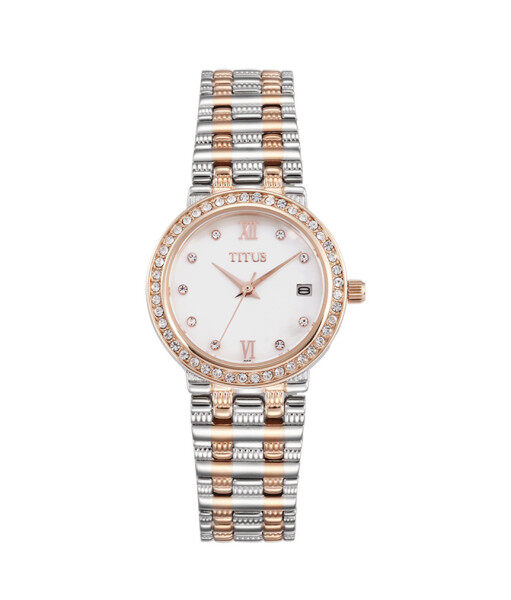 Solvil et Titus W06-02526-002 Womens Quartz Analogue Watch in Silver White Dial and Stainless Steel Strap Malaysia