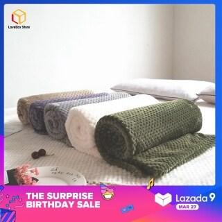 LoveBox 1 Cái Siêu Mềm Ấm Chăn Flannel Sofa Văn Phòng Trẻ Em Chăn Khăn Du Lịch Lông Cừu Di Động Chăn thumbnail