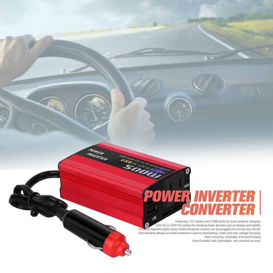 12V DC to AC 220V Car Auto Power Inverter Converter Adapter Adaptor USB Plug