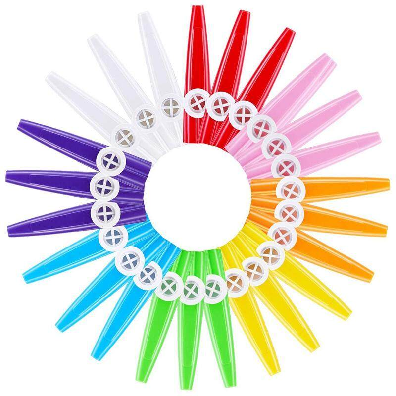 24 Pieces Plastic Kazoos 8 Colorful Kazoo Musical Instrument, Good Companion For Guitar, Ukulele, Violin, Piano Keyboard, Great Gift For Music Lovers (24 Pieces)