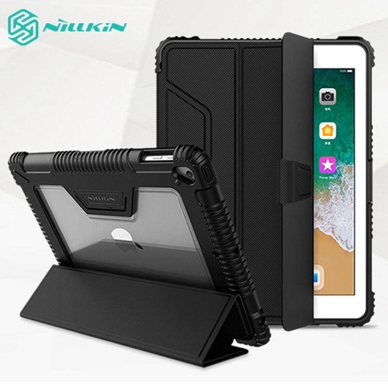 Nillkin Bumper Leather Cover Smart Wake Up/sleep Function Case For Ipad 9.7-Inch (2018) [imported Tpu, Pc And Pu Leather Materials] By Instyle Mall.
