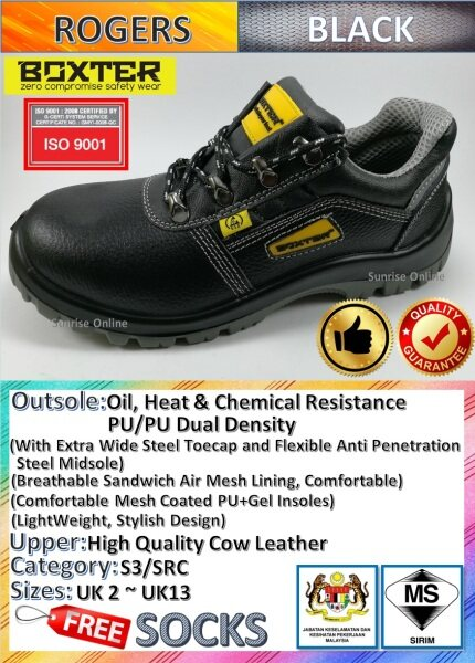 [ORIGINAL] BOXTER SAFETY SHOES - LOW CUT, DURABLE, HIGH TECHNOLOGY INJECTION, LIGHT WEIGHT