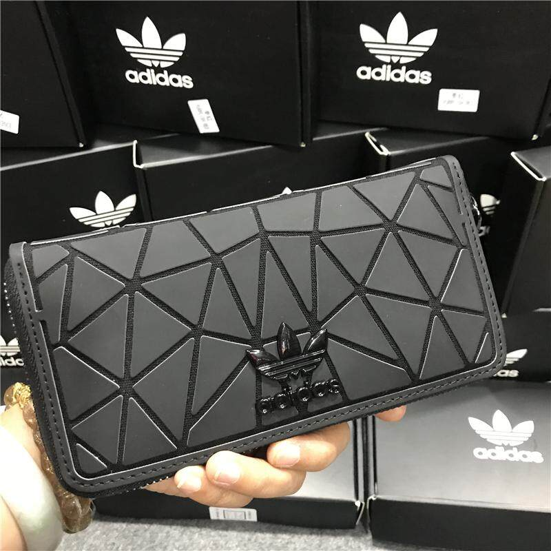 Original Adidas_Issey Miyake 3D Wallet For Men And Women Kstyle Korean Fashion Key Card Holder Coin Purse Clutch Mobile Phone Pouch Bag