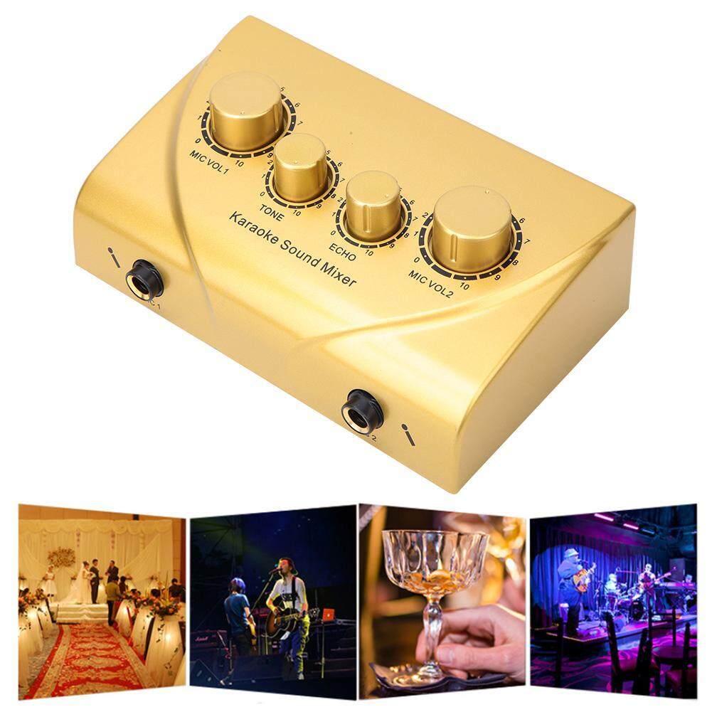 Karaoke Mini Trộn Âm Thanh Micro Kép Đầu Vào cho Giai Đoạn Phòng KTV MỸ Cắm Điện 100-240V