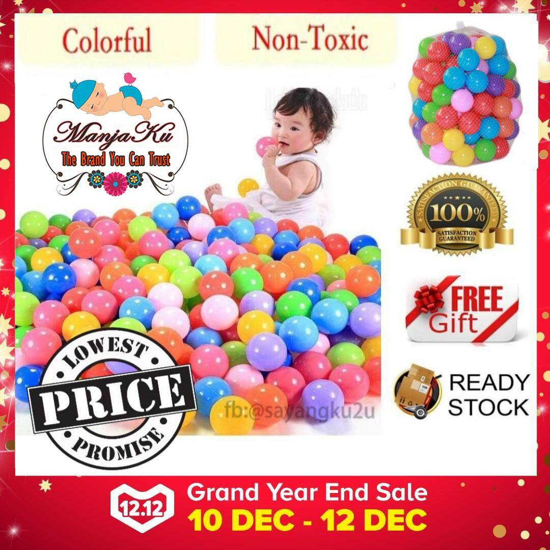 Ready Stock!!! 100pcs 5.6cm Premium Quality Ce Colorful Balls, Baby Kids Toy Soft Plastic Pvc Ocean Ball Pit Pool By Manjaku.