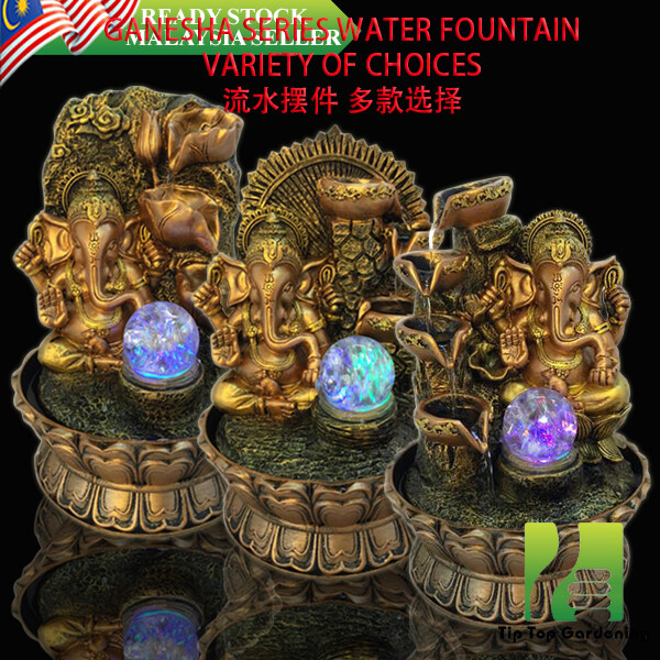 GANESHA SERIES WATER FOUNTAIN VARIETY OF CHOICES (LX9048,LX9049,LX9050,LX9051,LX9052) HOME AND GARDEN DECORATION