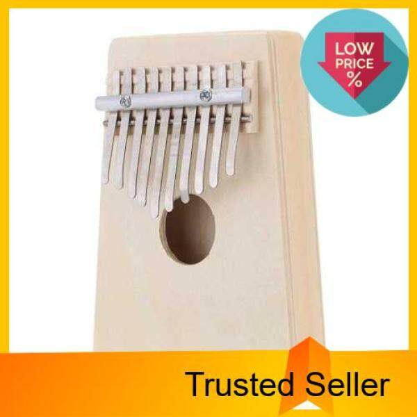 10 Key Mbira Finger Thumb Music Piano Hollow Pine Education Toy Musical Instrument for Music Lover and Beginner (The Original Wood Color) Malaysia