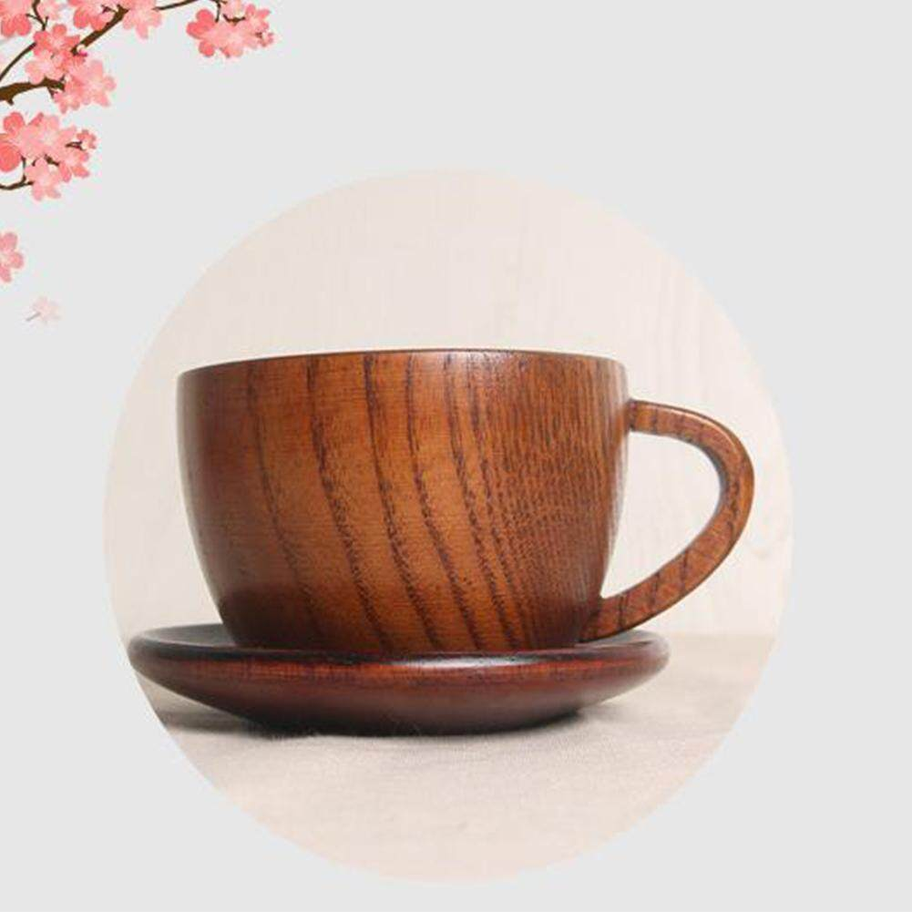 12a6ad57945 MG【Big Discount】 Retro Style Eco-friendly Wooden Cup Coaster Tableware for  Milky
