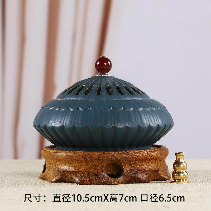 Censer Incense Holder Incense Burner Vintage Disk Censer Tea Ceremony Tower Censer Reverse Flow Incense Chinese Eaglewood Sandalwood Household Snnei Censer