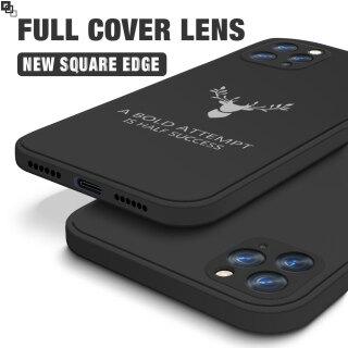Ốp Hontinga Hình Vuông Silicon Mềm Tuần Lộc Bảo Vệ Toàn Bộ Máy Ảnh Chống Sốc Cho iPhone 11 11 Pro 11 Pro Max 12 Mini 12 Pro 12 Pro Max Nam Nữ - INTL thumbnail