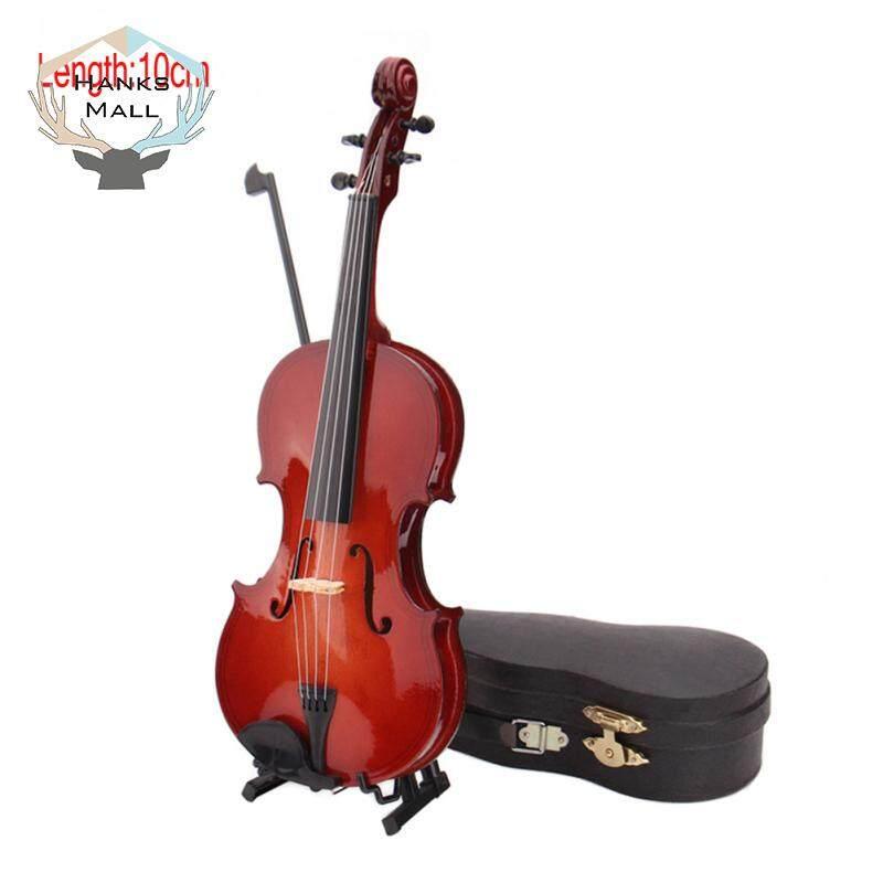 HK Mini Thu Nhỏ Vĩ Cầm Mô Hình có Chân Đế và Ốp Lưng Mini Nhạc Cụ Đồ Trang Trí