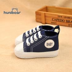 [Hunibear] Giày Em Bé Thời Trang Mềm Mại Dưới Chống Trượt Giày Vải 0-18 Tháng