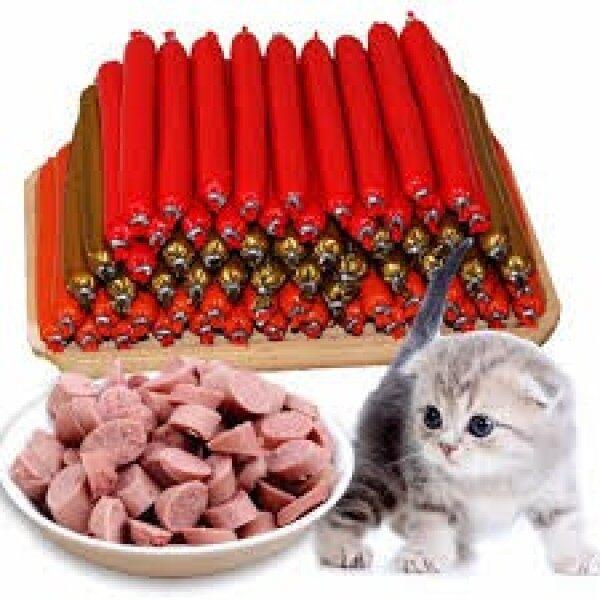 Combo 10 cây xúc xích mix vị cho chó mèo thơm ngon bổ dưỡng, giúp ổn định hệ thống vi khuẩn đường ruột, tiêu hóa khỏe