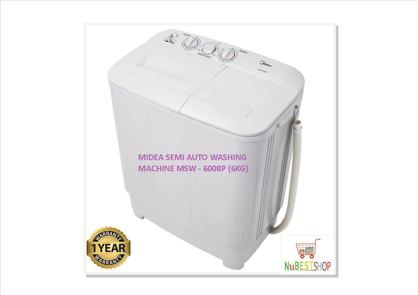 MIDEA 6KG SEMI AUTO WASHING MACHINE MSW - 6008P