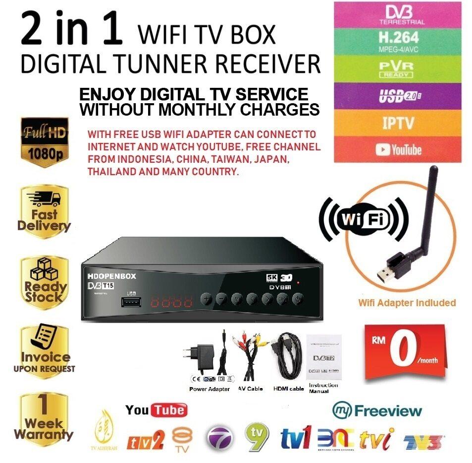 Decoder MYTV Dekoder Digital HDOPENBOX Receiver Support all Malaysia Channels