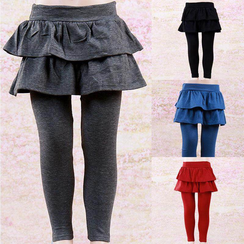 Lovely Kids Baby Girls Sweet Pantskirt Warm Culotte Leggings Tutu Skirt Pants By Lg566.
