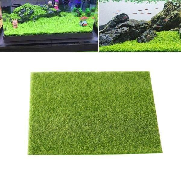 Cảnh Quan Vi Mô Nhân Tạo Mới Trang Trí Bể Cá Không Độc Hại Vải Không Dệt Cỏ Nhân Tạo Mini Garden Prop 30x30cm