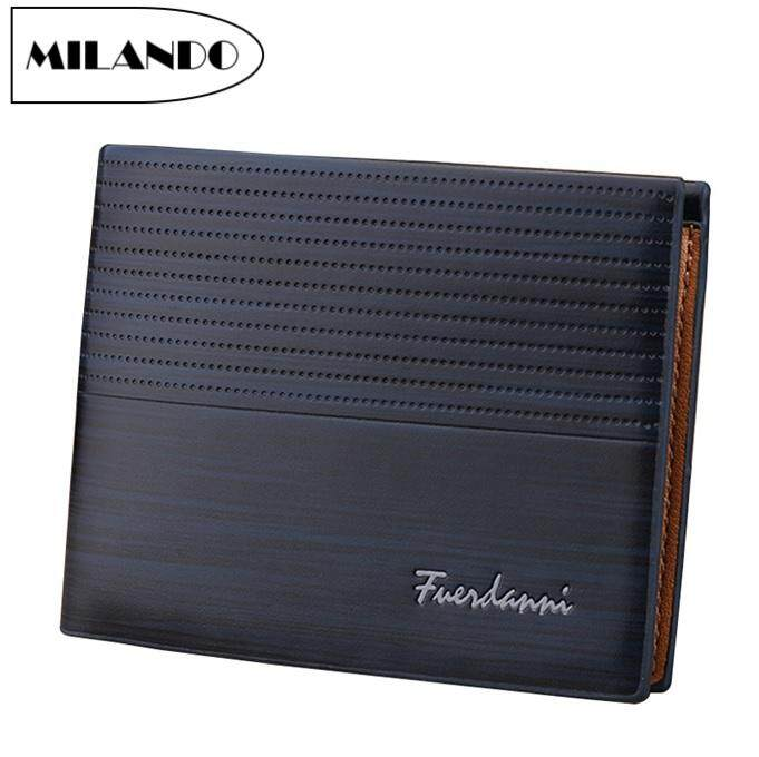 Milando Men Bifold Pu Leather Slim Wallet Id Window Card Case Clutch (type 1) By Milando.