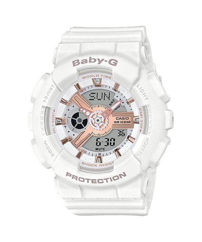 Original Baby G BA-110RG-7A Womens Watch (White) Malaysia
