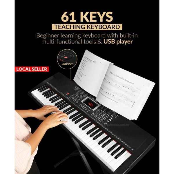 BLW 61 Keys Electric Digital Piano Electronic Keyboard Package Teaching Grade Malaysia