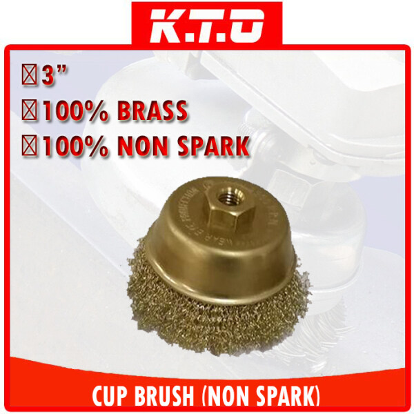 "3""/75MM 100% BRASS CUP BRUSH NON SPARK (M10x1.5 THREAD) GRINDING WHEEL"