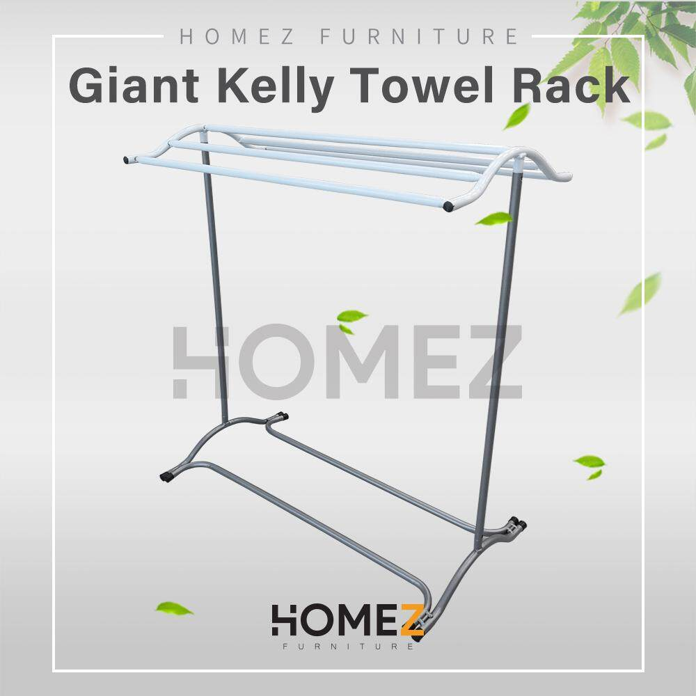 Kitchen Z Anti Rust Towel Hanger/ Clothes Dryer/ Towel Rack/ Indoor Outdoor Drying Rack/ Clothes Organizer/ Storage Rack/ Hanger Baju/ Hanger Tuala/ Ampaian Tuala Baju - 3v Gkl610y-Mzw By Kitchen Z.