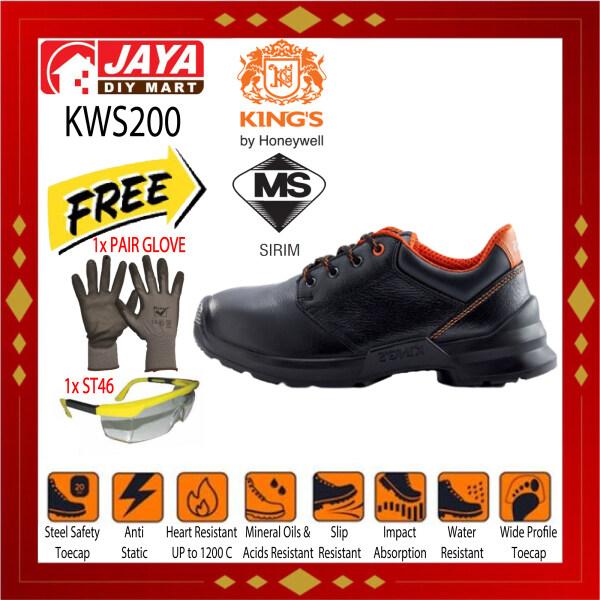 KINGS KWS200 SAFETY FOOTWEAR BLACK LOWCUT LACEUP SD SHOES - HIGH QUALITY SHOE JAYA DIY MART