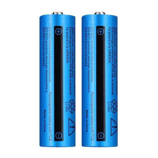 Pomel Miễn Phí Vận Chuyển COD Pin Sạc Lithium-Ion 18650 5000amh 3.7V Áo Có Nút Cho Đèn Pin LED