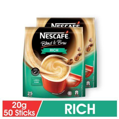 Nescafe Blend and Brew Rich (19g x 25 x 2 Packs)