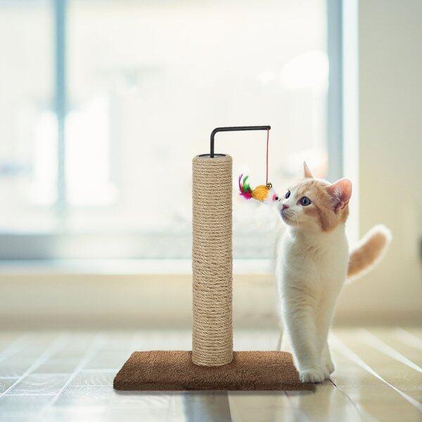 Khung Leo Cây Cho Mèo Thú Cưng Với Vòng, Cá Đồ Chơi Bảng Cào Cho Mèo, Tương Tác Đồ Chơi