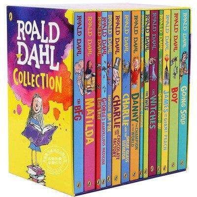 15 Books Roald Dahl Collection Childrens Literature English Novel Story Book Set Early Educational Reading for Kids