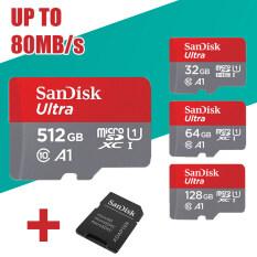 Thẻ Nhớ MicroSD Class10, UHS-1 Micro SDHC TF, Thẻ Nhớ Micro SDXC Ultra 512GB 128GB 64GB 32GB, Micro SDHC, C10 A1 80 MB/giây