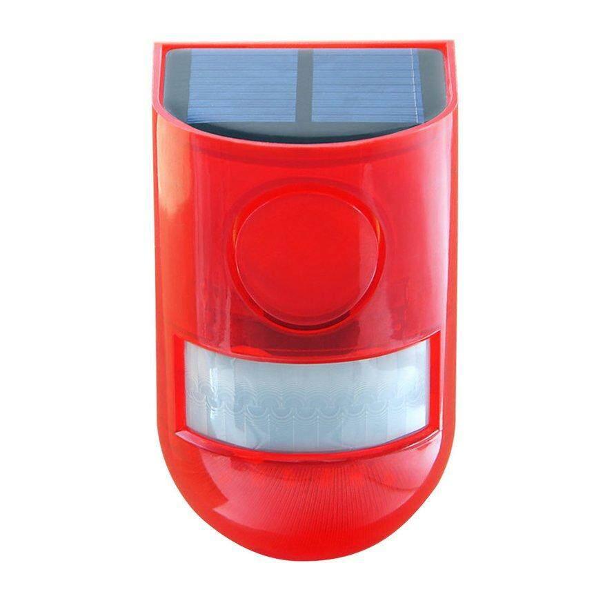 OSMAN Solar Sound Light Alert Alarm Motion Sensor Siren Strobe Security Alarm System